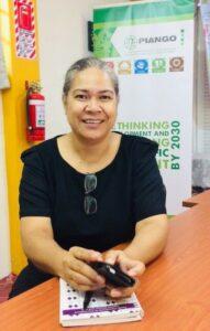 PIANGO Executive Director Emeline Ilolahia